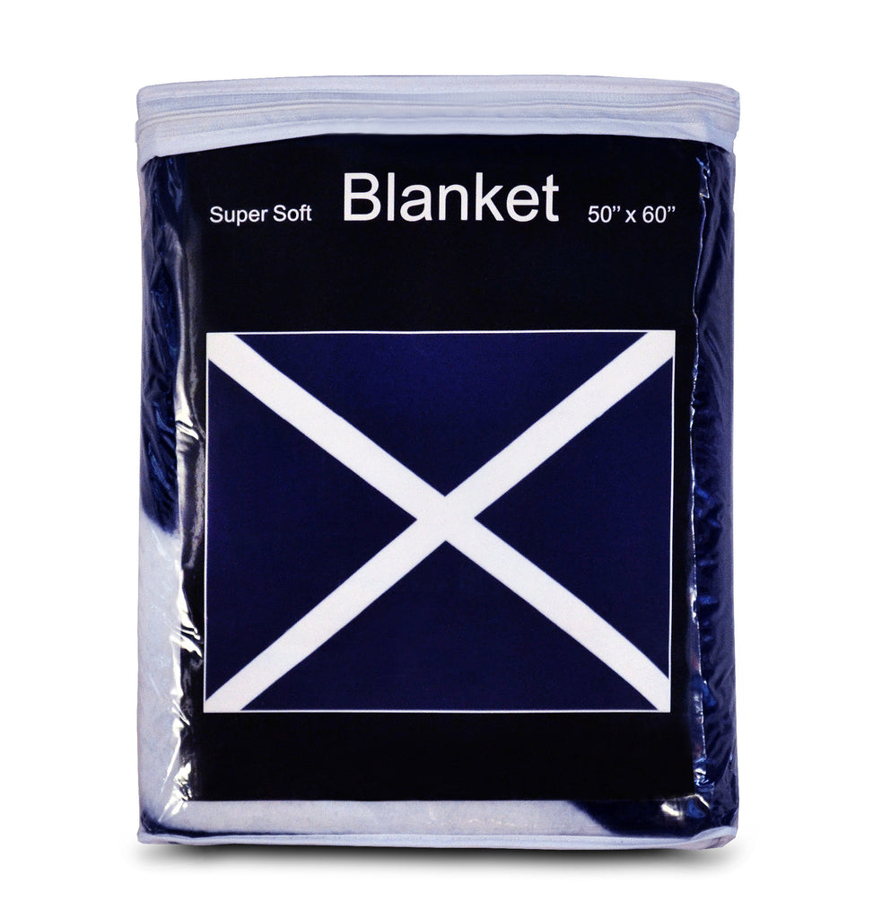 Scotland St Andrew's Cross Flag Fleece Blanket - 50