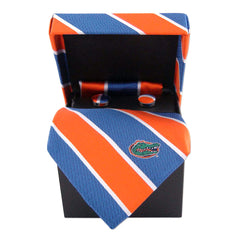 Florida Gators Tie, Pocket Square & Cufflinks Box Set
