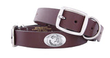 Florida State Seminoles Brown Leather Concho Dog Collar - NCAA
