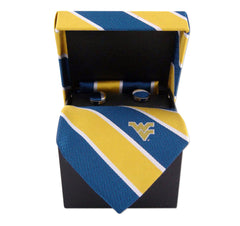 West Virginia Mountaineers Tie, Pocket Square & Cufflinks Box Set