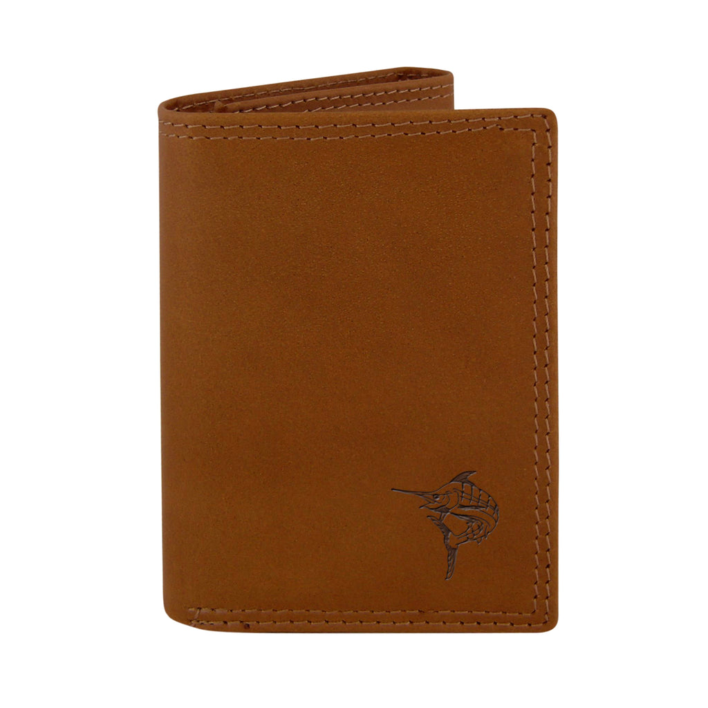 Zep-Pro Marlin Embossed Leather Trifold Wallet