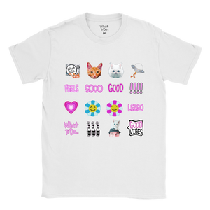 'THE FEELS' Emote White Tee