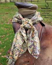 "100% Silk CALICO and SPECIAL DESIGN Wild Rags 34""x34"""