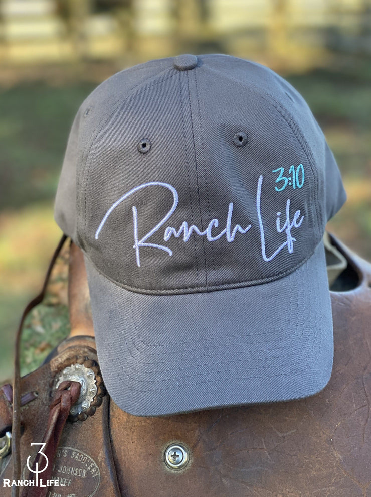 NEW!! 310 Women's Charcoal Grey Ranch Life Hat