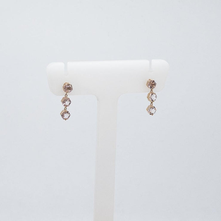 14k Rose Gold Drop Earrings - by Suzanne Kalan - Elisa B.
