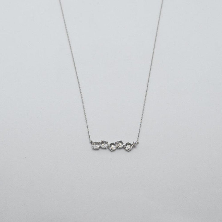 14k White Gold Uneven Bar Necklace - by Suzanne Kalan - Elisa B.