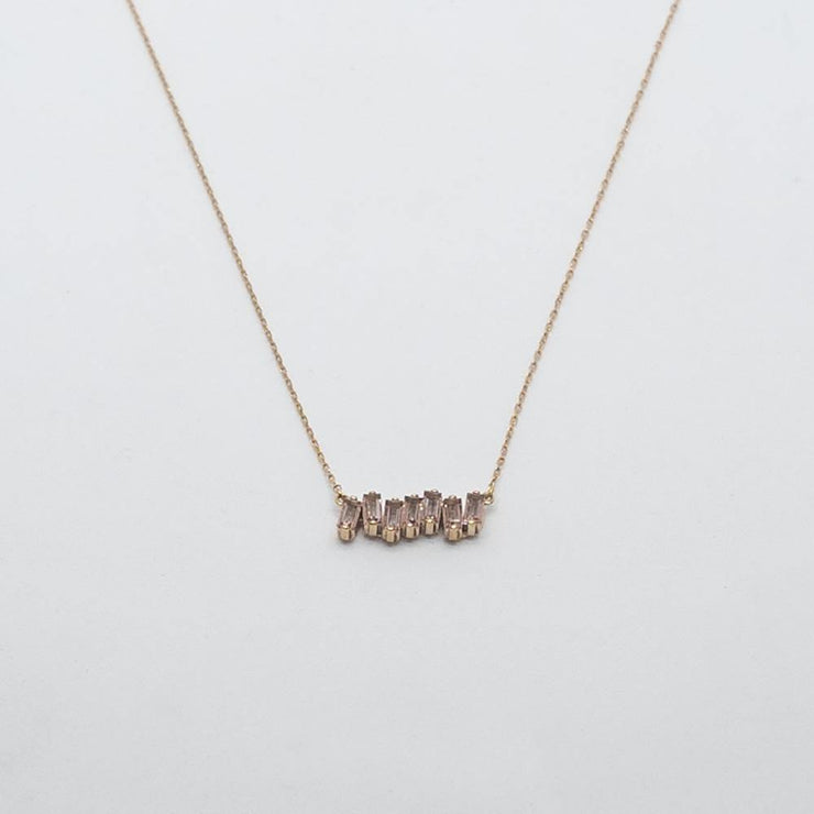 14k Rose Gold Bar Necklace - by Suzanne Kalan - Elisa B.