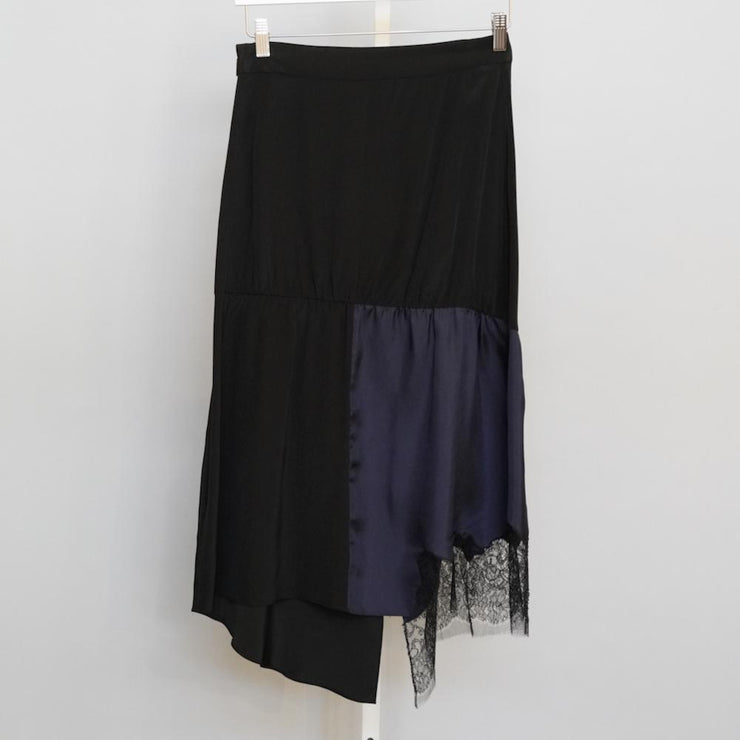 Patchwork Silk Skirt - by Tibi - Elisa B.
