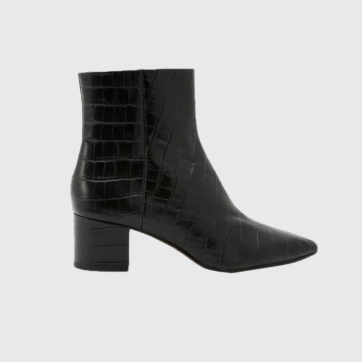 Bel Croco Leather Ankle Boot - by Dolce Vita - Elisa B.