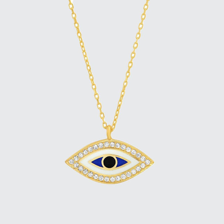 Enamel Eye Necklace