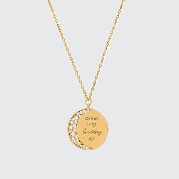 Never Stop Looking Up Coin Necklace