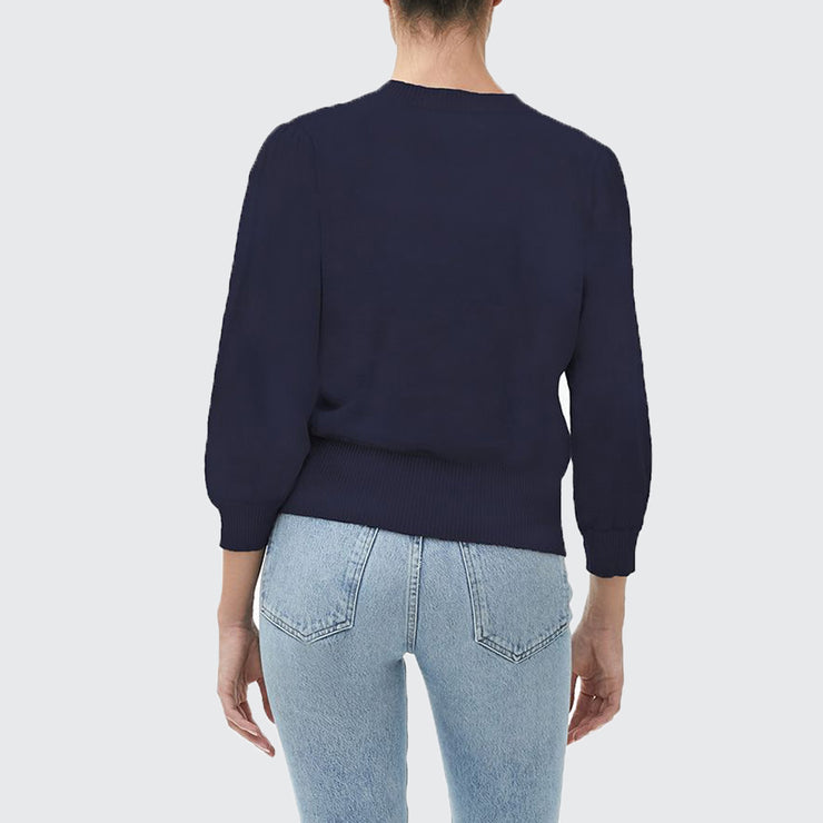 Dolly Puff Sleeve Crop Sweater