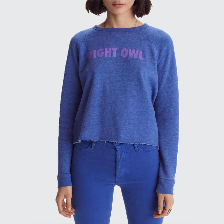 The Hugger Crop Fray Sweatshirt