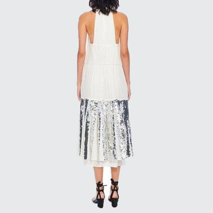 Claude Sequins Halter Dress