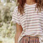 The Stripe Crop Tee