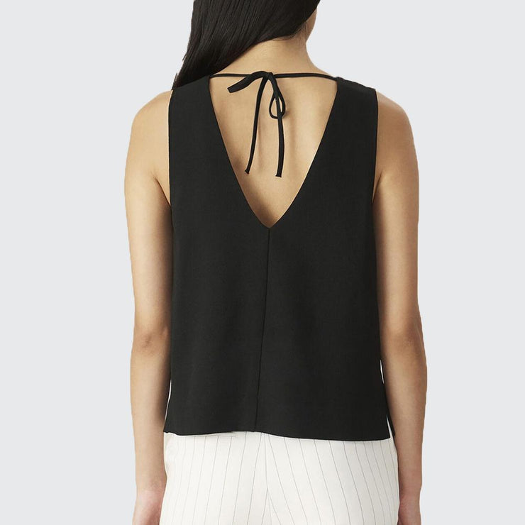 Heavy Crepe Sleeveless Top - by Ganni - Elisa B.