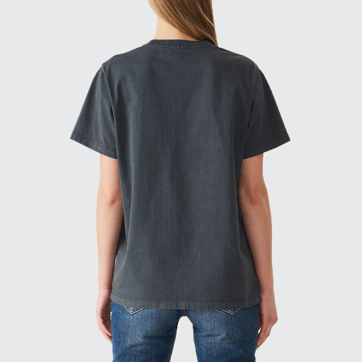 Cotton Jersey Happy Face Tee - by Ganni - Elisa B.
