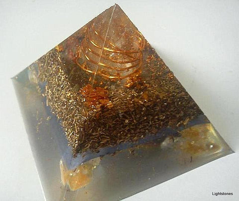 HHG orgone pyramid, flower of life and citrine