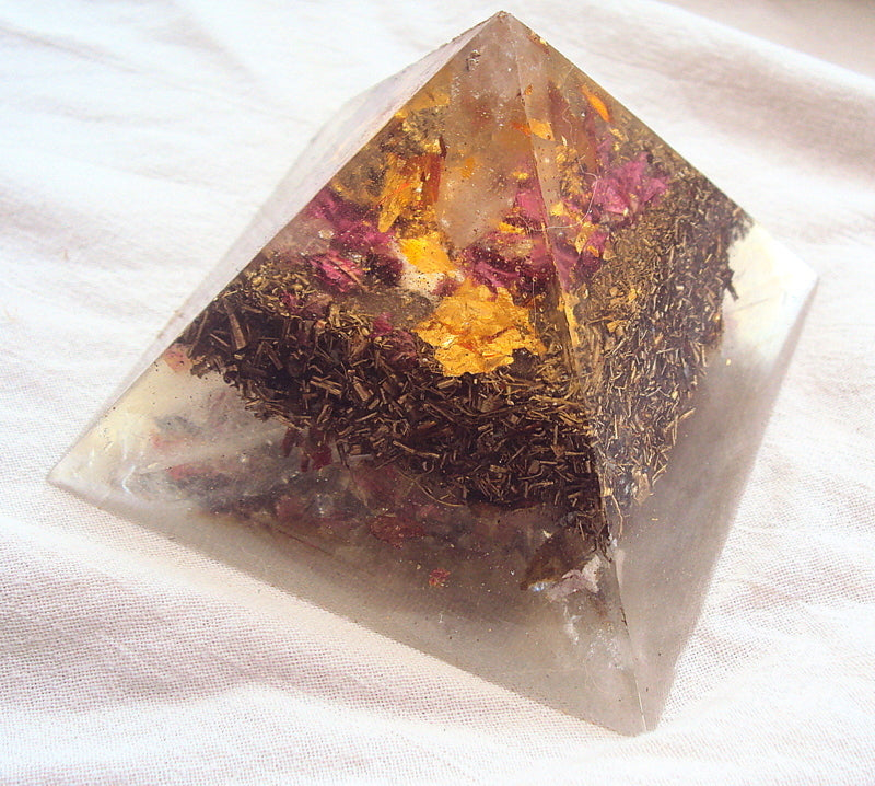 HHG Orgone Pyramid, cascading density of metals