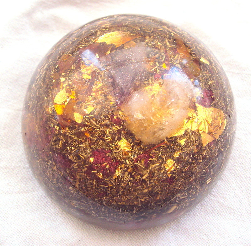 HHG Magic Dome with semi-precious gemstones - Lightstones Orgone , orgonite, EMF protection, orgone pendants, orgone devices, energy jewelry