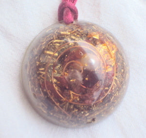 Personal Protection Orgone Pendant, herkimmer diamond