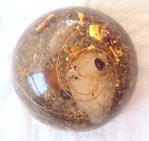 TB Orgone Dome, Space Enhancer with citrine.