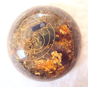 TB Orgone Dome, Space Enhancer, ametyst and lapis