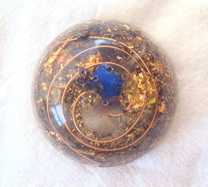 Pocket Orgone Device TB, lapis lazuli - Lightstones Orgone , orgonite, EMF protection, orgone pendants, orgone devices, energy jewelry