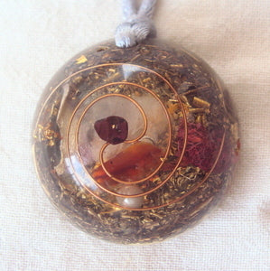 Personal Protection Orgone Pendant, for love and fertility