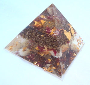 HHG Orgone Pyramid - Lightstones Orgone , orgonite, EMF protection, orgone pendants, orgone devices, energy jewelry