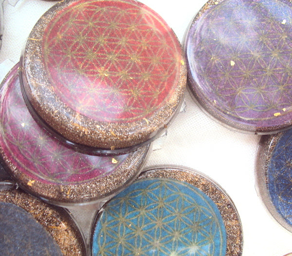 Mobile EMF protector, disc with shungite - Lightstones Orgone , orgonite, EMF protection, orgone pendants, orgone devices, energy jewelry