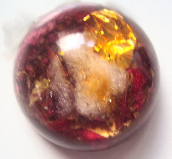 HHG Magic Dome, citrine-rosequartz-ametyst - Lightstones Orgone , orgonite, EMF protection, orgone pendants, orgone devices, energy jewelry
