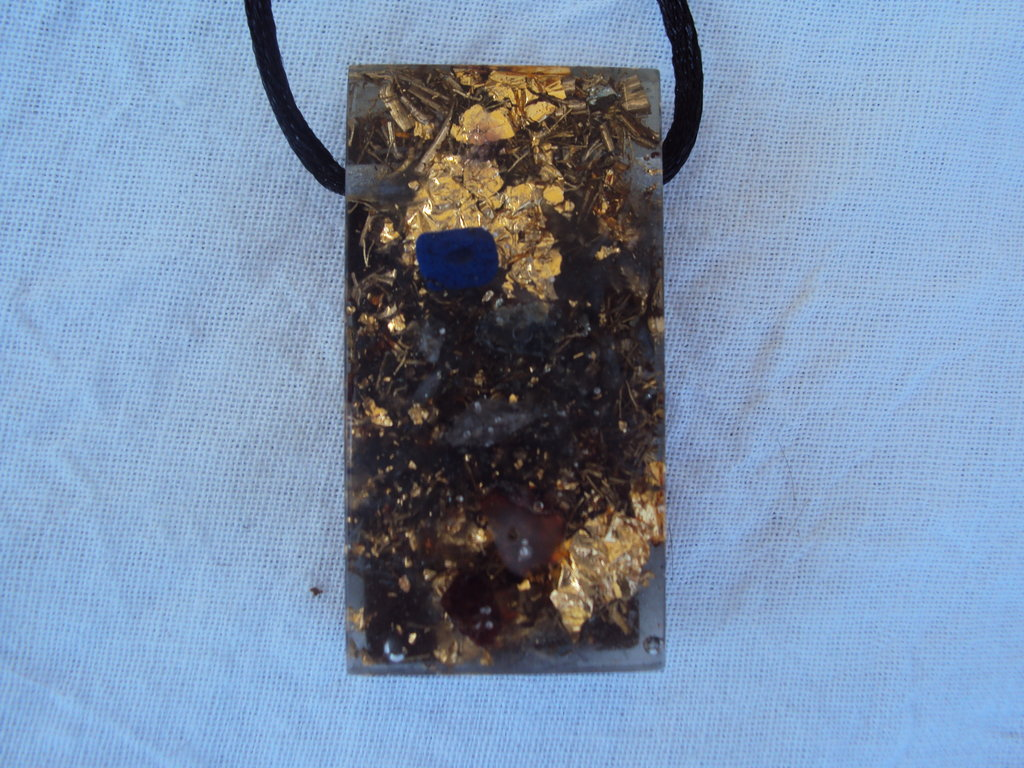 Chakra Harmonizer with shungite mix, Rectangular - Lightstones Orgone , orgonite, EMF protection, orgone pendants, orgone devices, energy jewelry