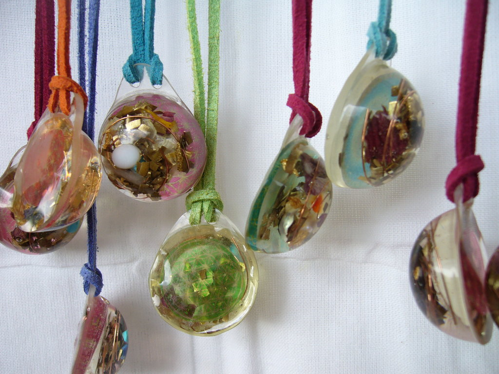 10 Lightdrop Orgone Pendants - Lightstones Orgone , orgonite, EMF protection, orgone pendants, orgone devices, energy jewelry