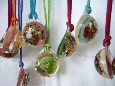 10 Lightdrop Orgone Pendants