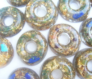 10 Orgone Torus - Lightstones Orgone , orgonite, EMF protection, orgone pendants, orgone devices, energy jewelry
