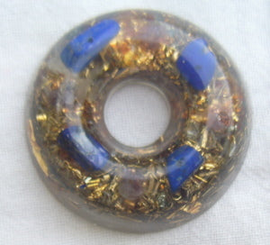 Orgone Torus, ametyst and lapis lazuli - Lightstones Orgone , orgonite, EMF protection, orgone pendants, orgone devices, energy jewelry