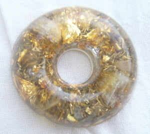Orgone Torus, citrine and rosequartz