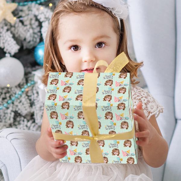 Custom Face Gift Wrap-Birthday Party