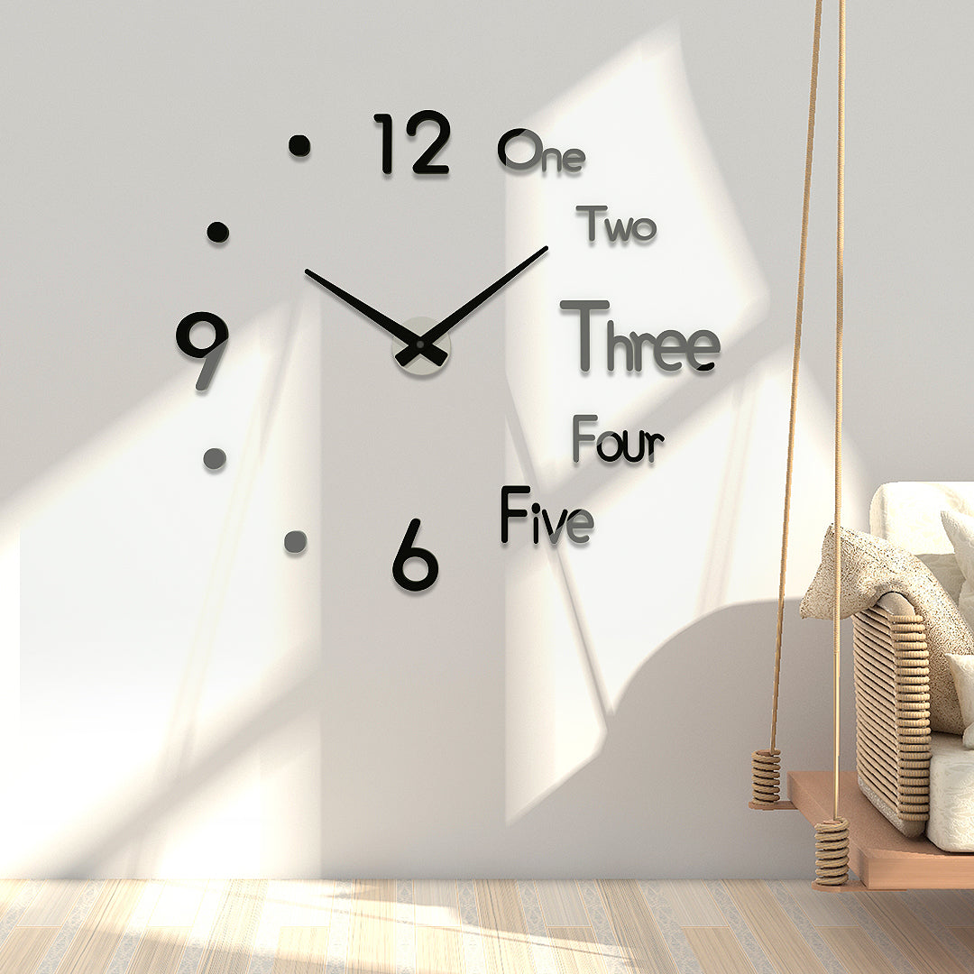 Modern Design Wall Sticker Clock