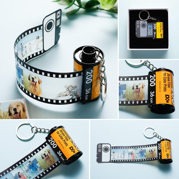 Custom Colorful Camera Roll Keychain Romantic Customized Keychain Gifts