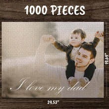 Custom Photo Jigsaw Puzzle Best Gifts I Love My Dad 35-1000 Piece