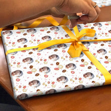 Custom Face Gift Wrap-Donut
