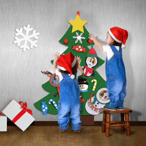 Custom DIY Face Felt Christmas Tree For Kids