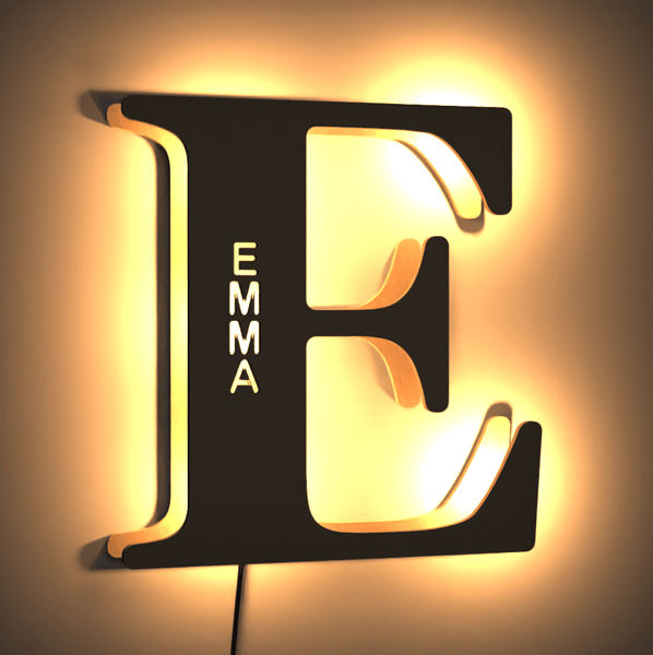 Custom Letter Wall Lamp Letter Bedroom Bedside Light Corridor Light Night Light