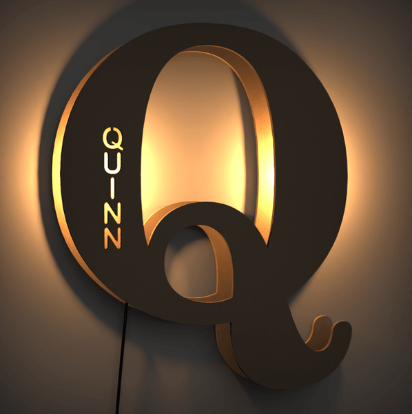 Custom Creative Letter Lamp Name Lamp Living Room Background Light Night Light