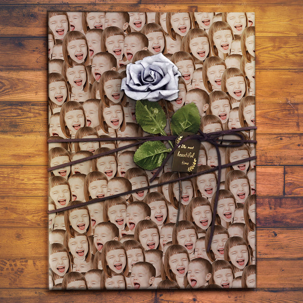 Custom Face Gift Wrap - Face Mash