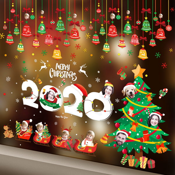 Custom Christmas Decoration DIY Stickers Set - Merry Christmas 2020