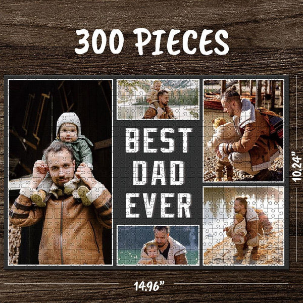 Custom Photo Jigsaw Puzzle Best Gifts Best Dad Ever - 35-1000 piece