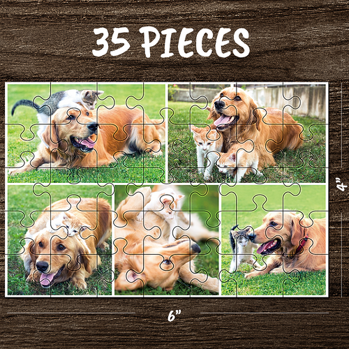 Custom photo jigsaw collage family puzzle love puzzle